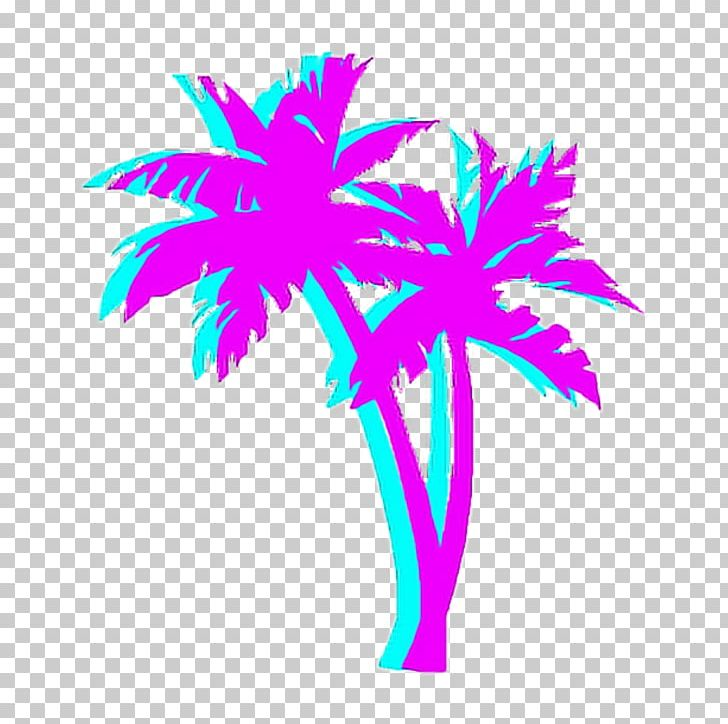Vaporwave pattern. Palm trees t shirt