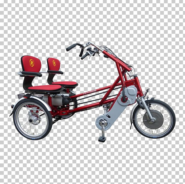 Tandem Bicycle Sociable Tricycle Electric Bicycle PNG