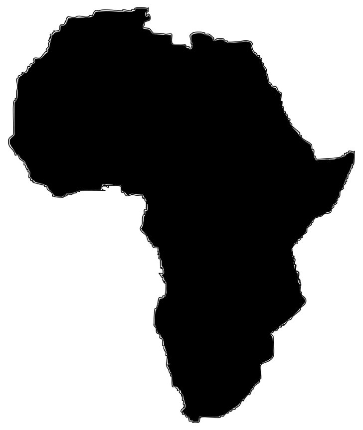 Africa Map PNG, Clipart, Africa, Africa Cliparts, Black, Black And