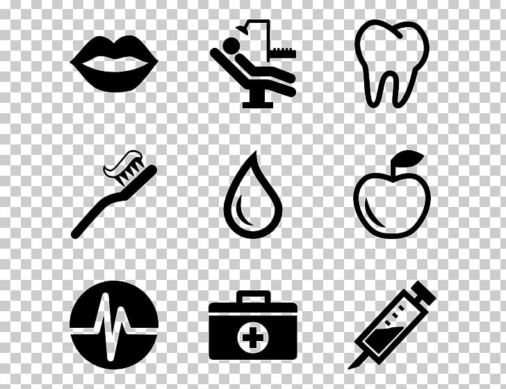 Dentistry Computer Icons Dental Instruments PNG, Clipart, Angle, Area, Black, Black And White, Brand Free PNG Download
