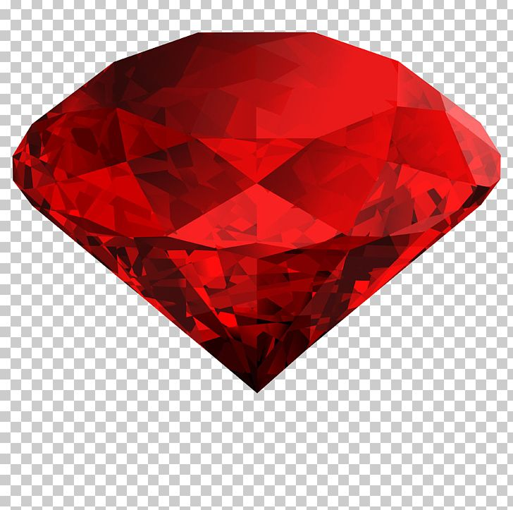 Diamond red PNG Transparent Image.