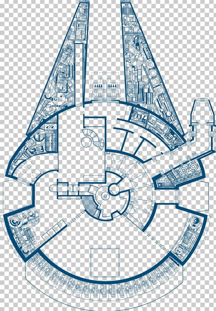 Star Wars: The Blueprints Millennium Falcon Drawing PNG