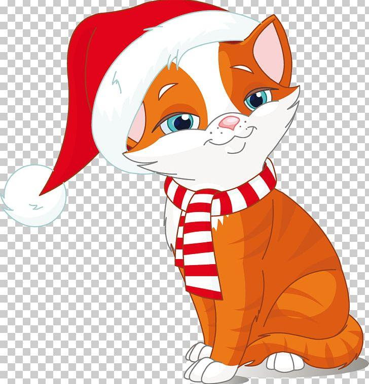 Kitten Cat Dog Christmas PNG, Clipart, Animals, Art
