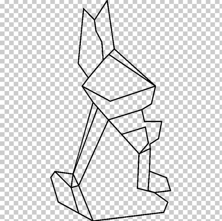 Rabbit Geometric Shape Net Png Clipart