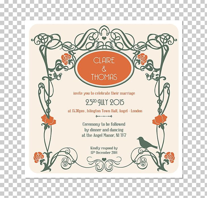 Wedding Invitation Art Nouveau Art Deco Png Clipart Art Art