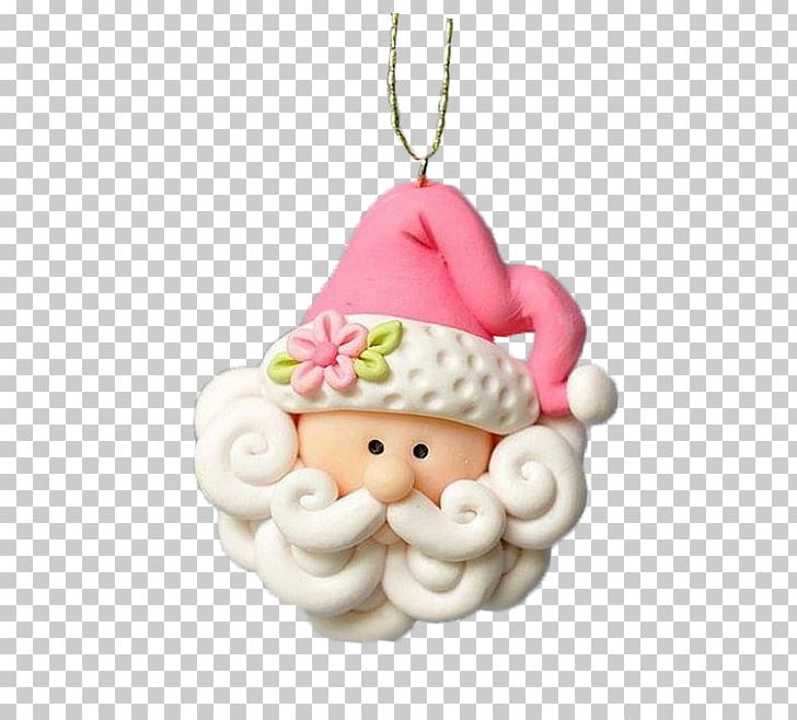 Santa Claus Christmas Ornament Polymer Clay Png Clipart Art