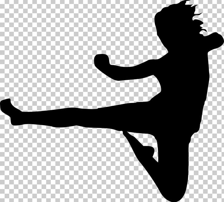 Karate Kick Martial Arts PNG, Clipart, Aerobic, Arm, Black And White, Chinese Martial Arts, Defense Free PNG Download