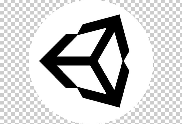 Unity Video Games Game Engine Logo 3D Computer Graphics PNG, Clipart, 3d Computer Graphics, Angle, Black, Black And White, Brand Free PNG Download