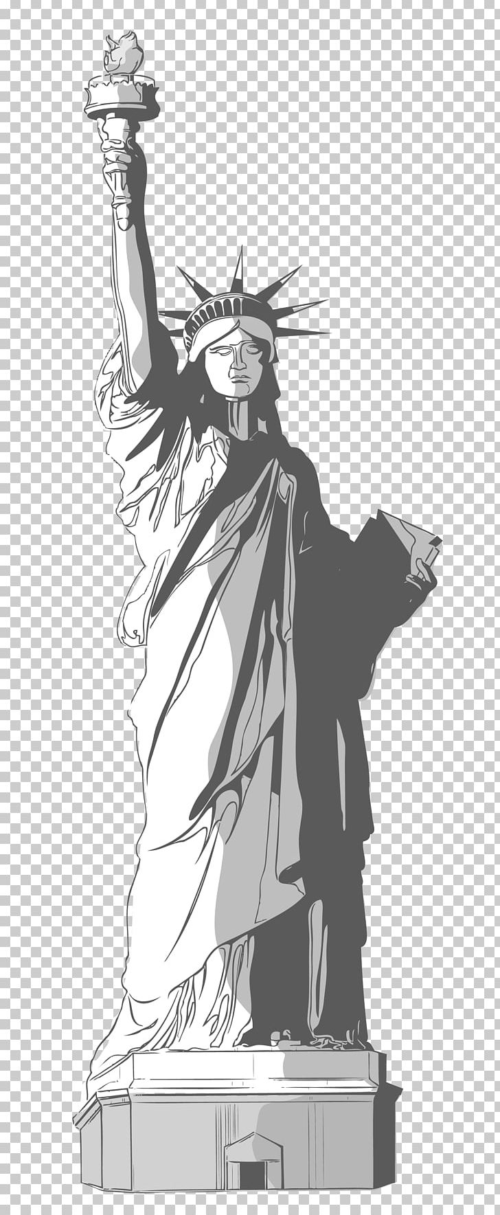 Statue Of Liberty Drawing PNG, Clipart, Anime, Art, Artwork, Black And White, Cartoon Free PNG Download
