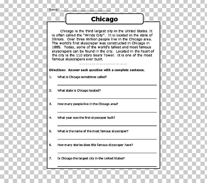 Reading Comprehension First Grade Third Grade Fourth Grade PNG, Clipart,  Area, Diagram, Document, Education Science, Elementary
