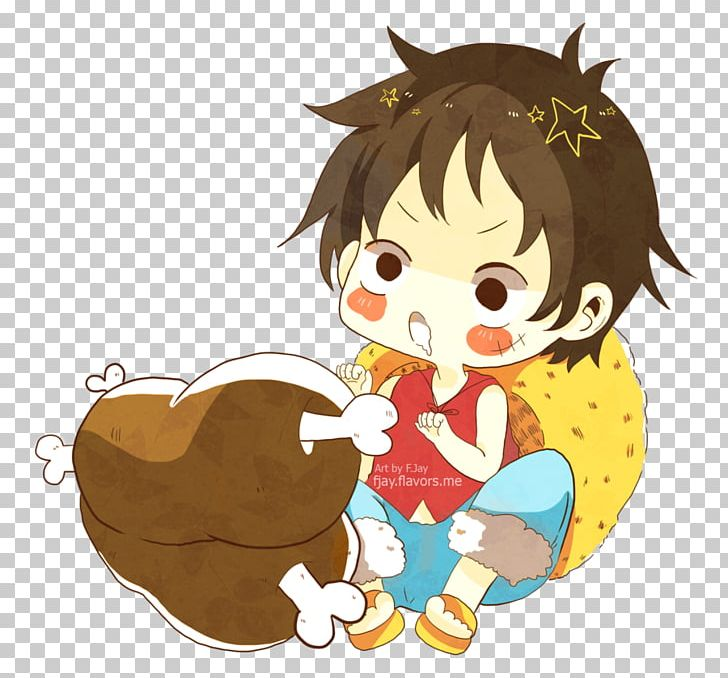 Monkey D Luffy Nami Chibi Child Character Png Clipart