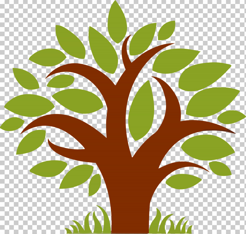 Tree Leaf Green Plant Woody Plant PNG, Clipart, Abstract Tree, Branch, Cartoon Tree, Green, Leaf Free PNG Download