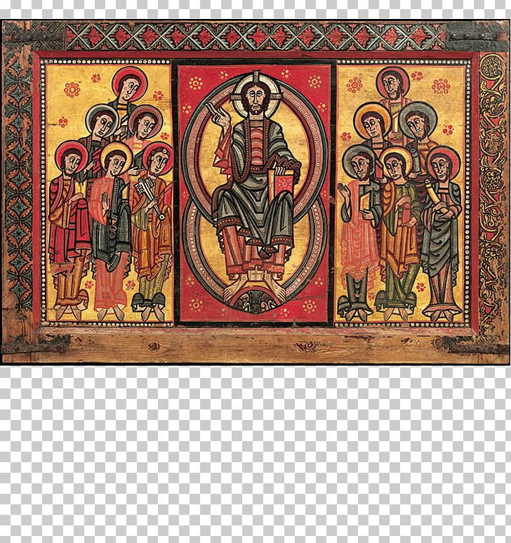 Altar Frontal From La Seu D'Urgell Or Of The Apostles Palau Nacional Middle Ages Romanesque Art Painting PNG, Clipart,  Free PNG Download
