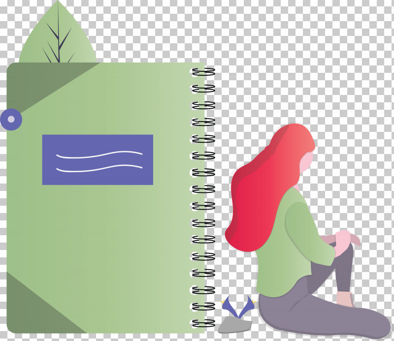 Notebook Girl PNG, Clipart, Girl, Notebook, Paper Product Free PNG Download