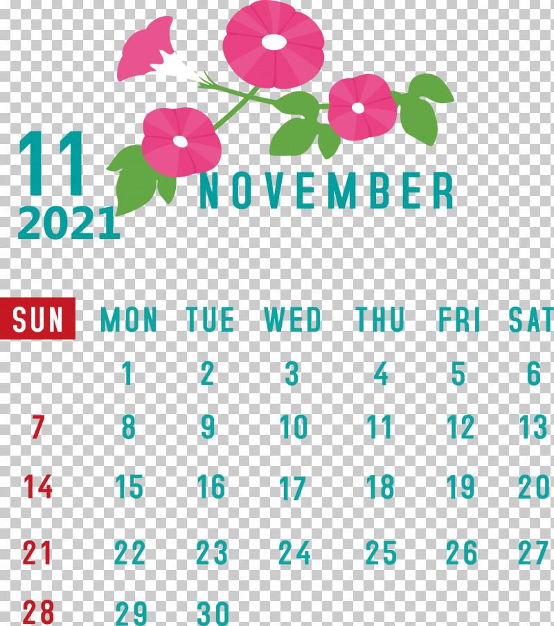 November 2021 Calendar November 2021 Printable Calendar PNG, Clipart, Biology, Geometry, Green, Leaf, Line Free PNG Download