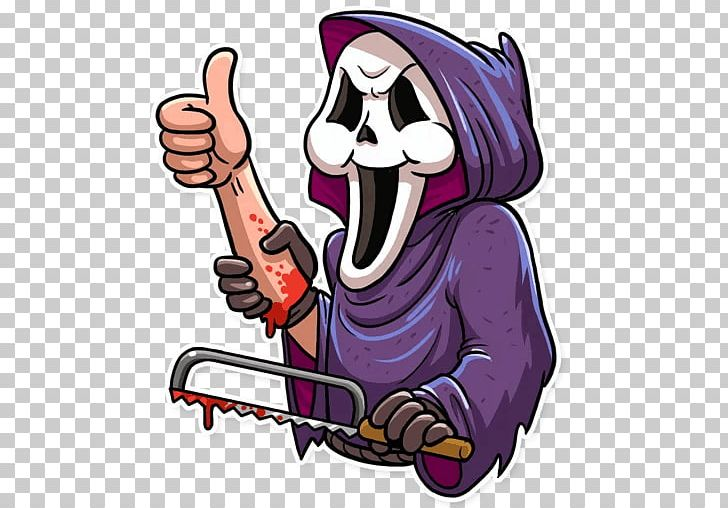 Telegram Scream Sticker Film Grauen PNG, Clipart, Art, Cartoon, Demon, Devil, Fictional Character Free PNG Download