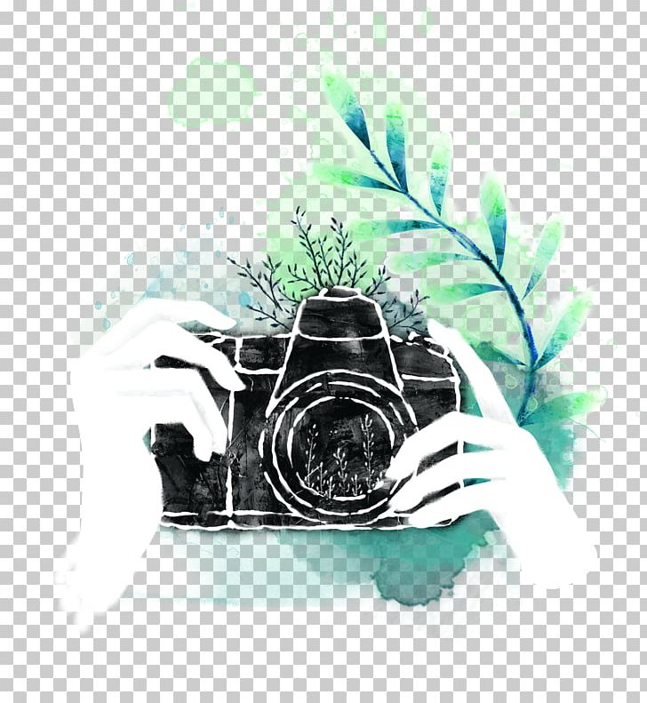 Логотип фотографа акварель