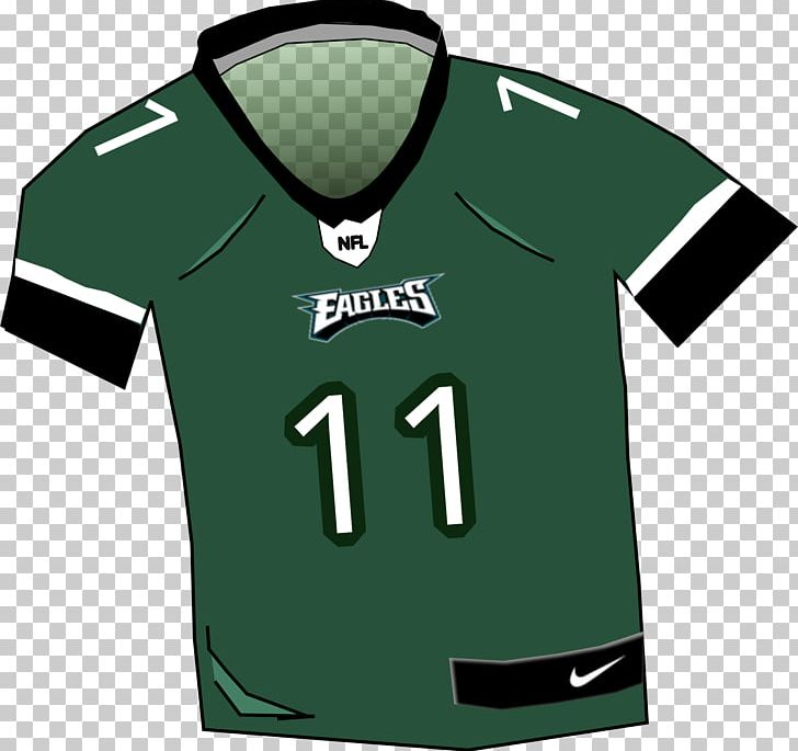new concept 2b401 a5af1 Philadelphia Eagles Jersey T-shirt Clothing PNG, Clipart ...