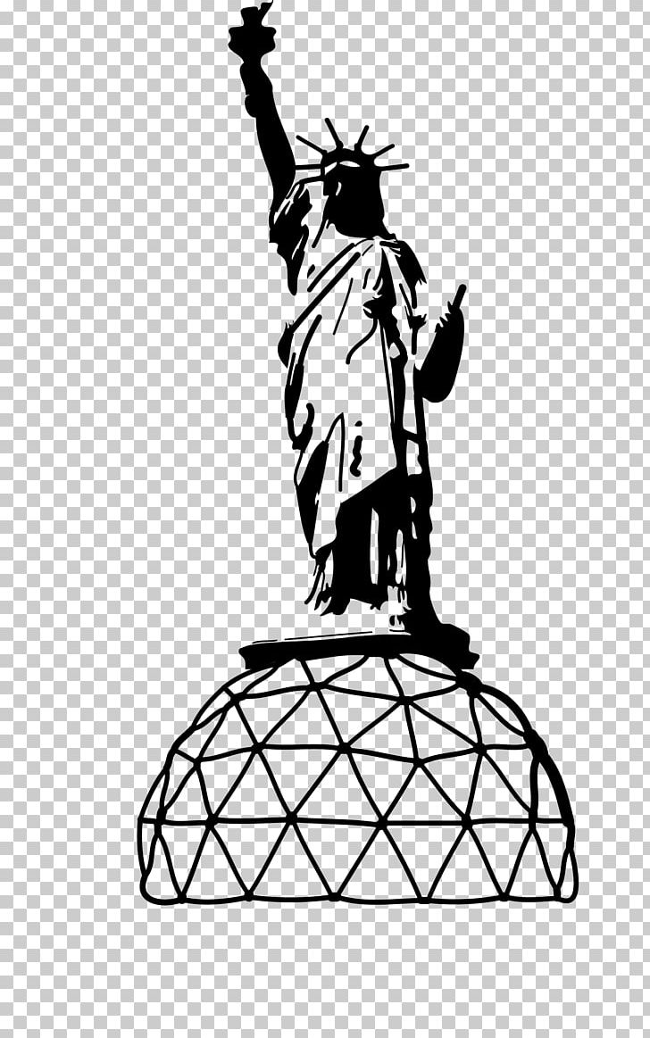 Statue Of Liberty Line Art Drawing PNG, Clipart, Art, Artwork, Black And White, Drawing, Fictional Character Free PNG Download