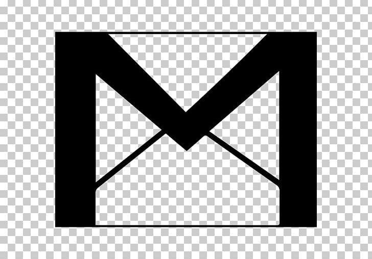 Computer Icons Gmail Email PNG, Clipart, Angle, Area, Black, Black And White, Brand Free PNG Download