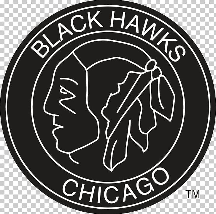 Pánské Tričko Mitchell & Ness Black And White Logo Nhl Chicago Blackhawks Emblem Brand PNG, Clipart, Area, Badge, Black And White, Blackhawk, Brand Free PNG Download