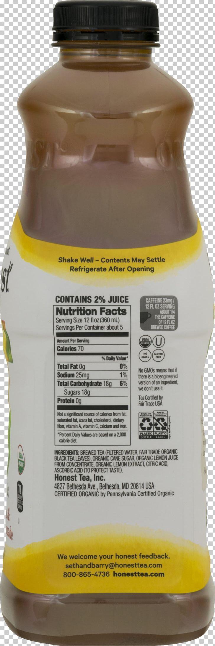 Lipton Black Tea Nutrition Facts Label
