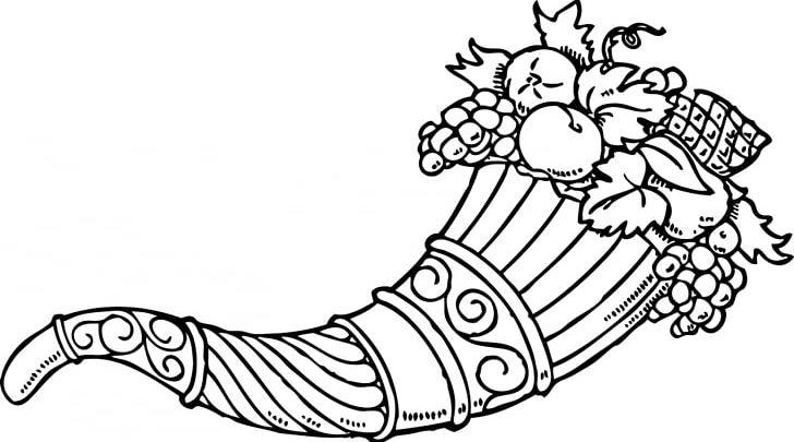 Cornucopia Coloring Book Harvest Festival Thanksgiving PNG, Clipart, Adult, Area, Art, Artwork, Autumn Free PNG Download