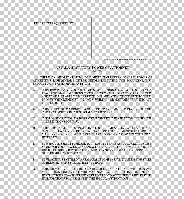 Power Of Attorney Nevada Form Template Notary PNG, Clipart, Angle