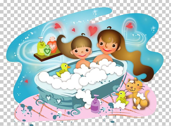 Bathing Illustration PNG, Clipart, Bathe, Cake Decorating, Cartoon, Cuisine, Duckling Free PNG Download