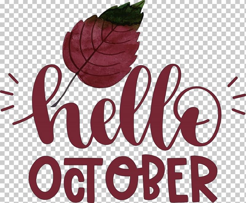 Hello October October PNG, Clipart, Biology, Flower, Fruit, Hello October, Logo Free PNG Download