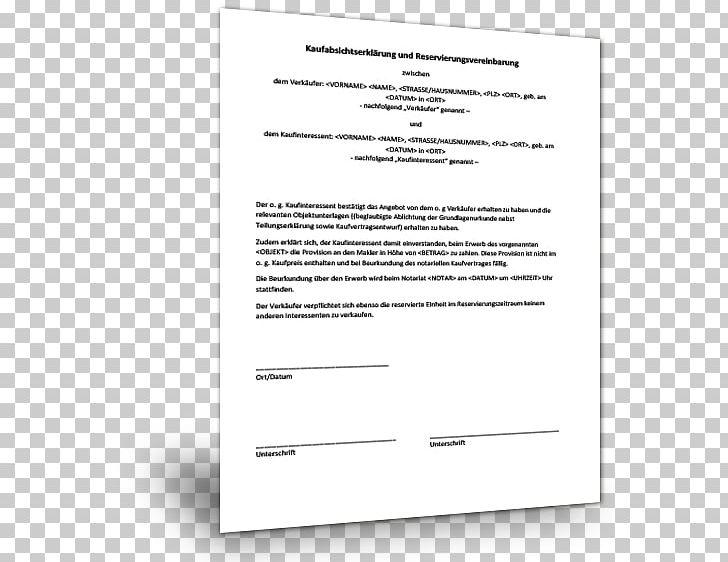 Reservierungsvereinbarung Immobilien Muster 6