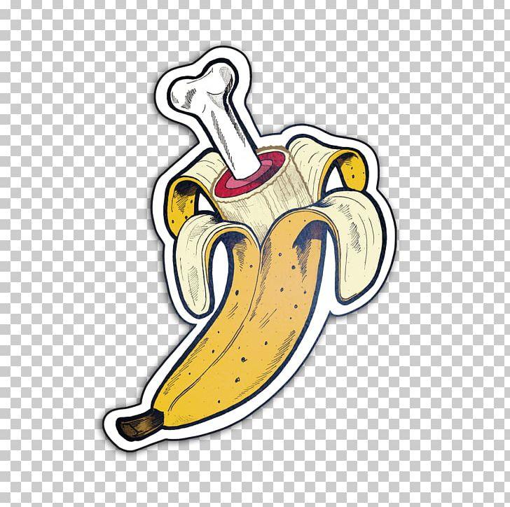 Sticker Bone Banana Food Png Clipart Banana Body Jewelry Bone