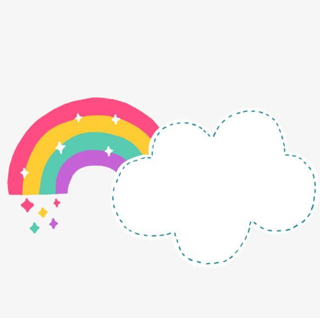 Cartoon clouds cute. Rainbow png clipart