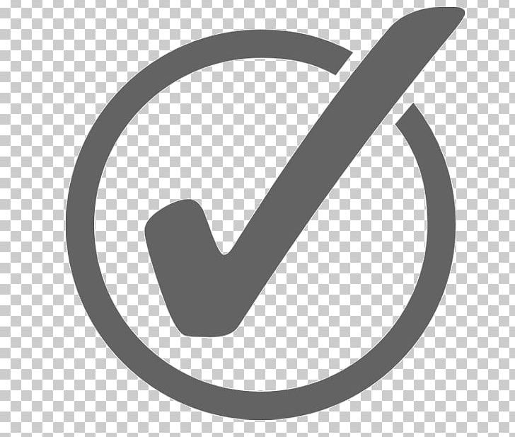 Check Mark Open Computer Icons Symbol PNG, Clipart, Angle, Black And White, Brand, Check Mark, Circle Free PNG Download