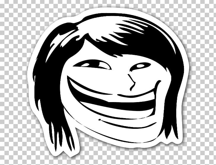 Trollface Internet Troll Rage Comic Meme Png Clipart Black Black