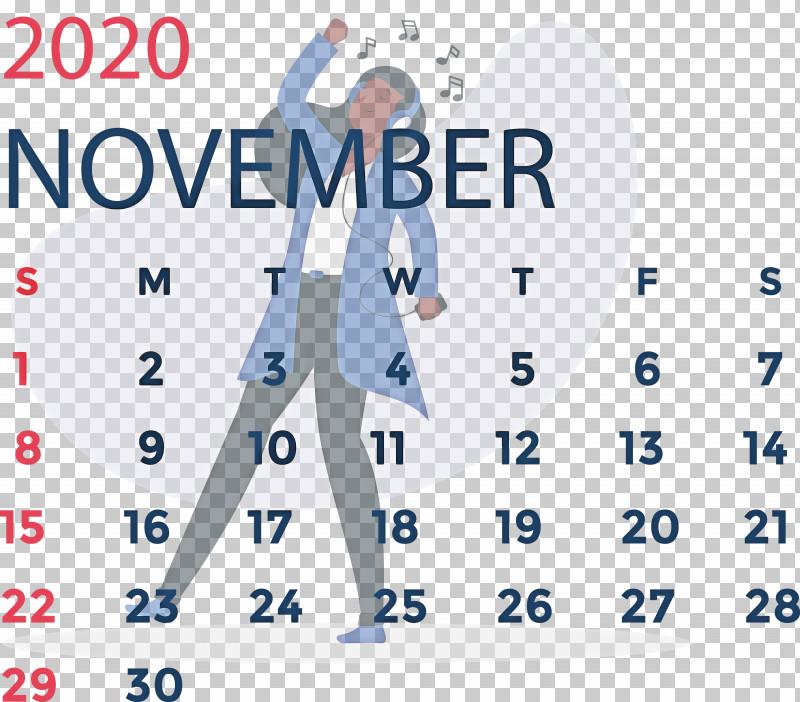 November 2020 Calendar November 2020 Printable Calendar PNG, Clipart, Area, Calendar System, Meter, November, November 2020 Calendar Free PNG Download