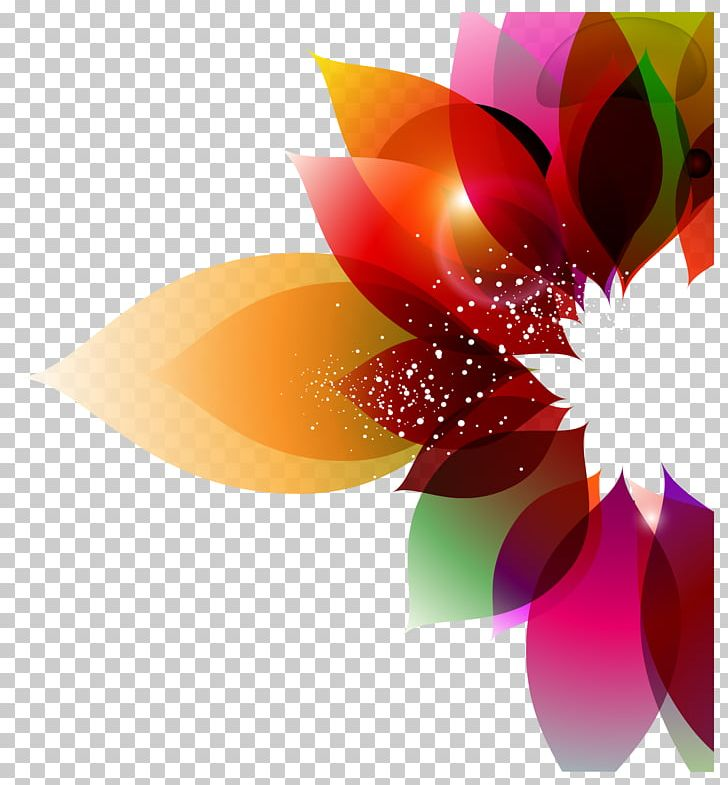 Color Flower Abstract Art Floral Design Png Clipart Art