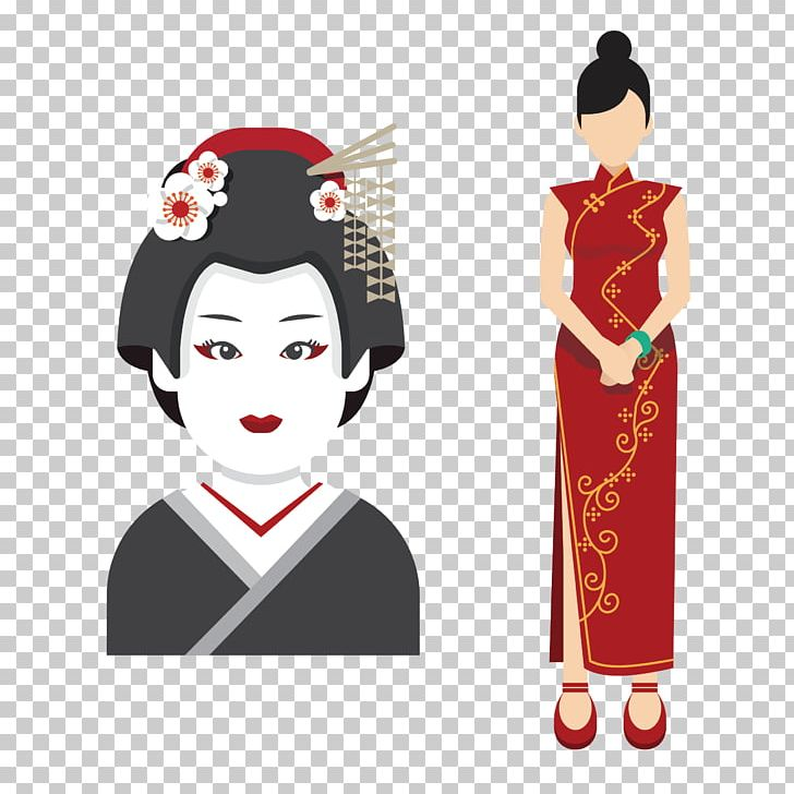 Japan Icon PNG, Clipart, Business Woman, Cartoon, Cheongsam, Cheongsam Vector, Chinese Border Free PNG Download