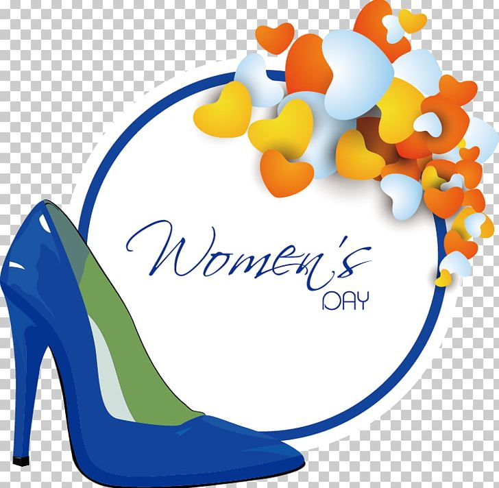 Shoe International Womens Day Woman PNG, Clipart, Blue, Flower, Greeting Card, Highheeled Footwear, Holidays Free PNG Download