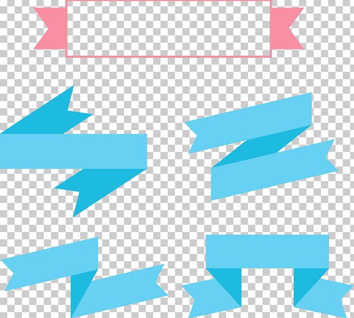 Blue With Ribbon PNG, Clipart, Angle, Blue, Blue Ribbon, Border Frame, Cartoon Ribbon Free PNG Download