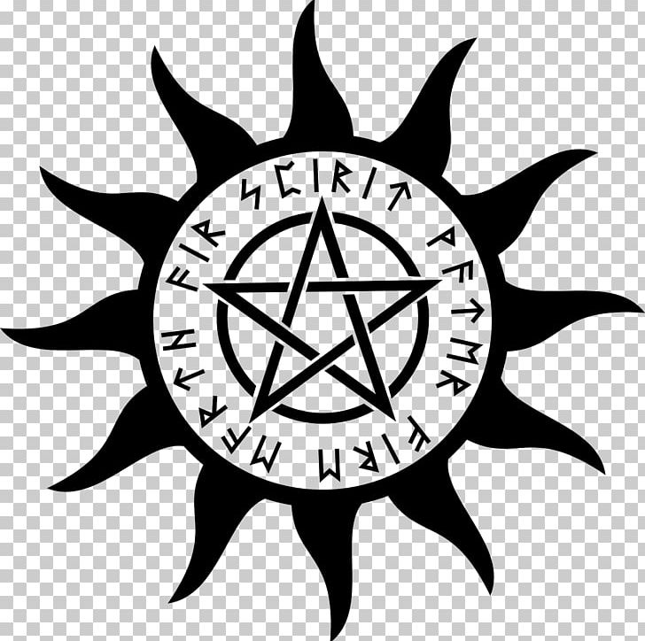 Pentagram Pentacle Wicca Symbol Religion PNG, Clipart, Artwork, Black And White, Circle, Earth, Fire Free PNG Download