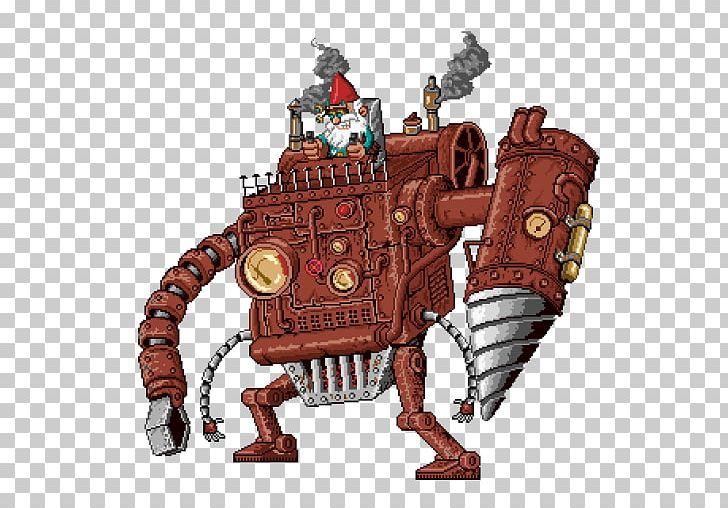 Mecha Steampunk Fantasy Pixel Art Cyberpunk PNG, Clipart