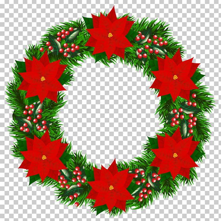Christmas Tree Santa Claus Wreath Poinsettia PNG, Clipart, Christmas, Christmas Clipart, Christmas Decoration, Christmas Ornament, Christmas Tree Free PNG Download