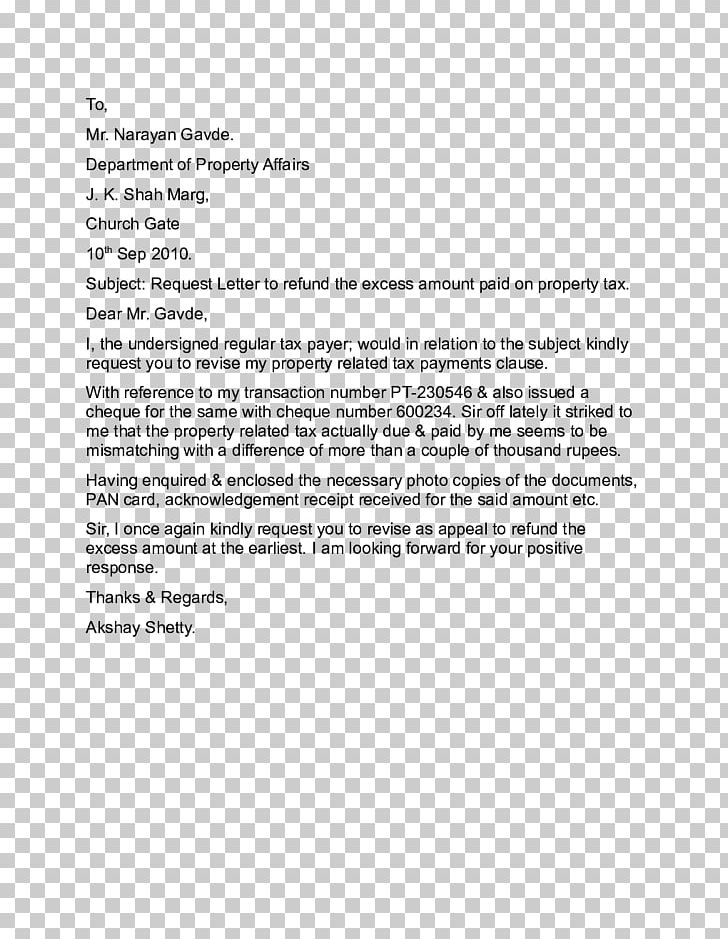 Form Letter Tax Refund Template PNG, Clipart, Area, Cheque ...