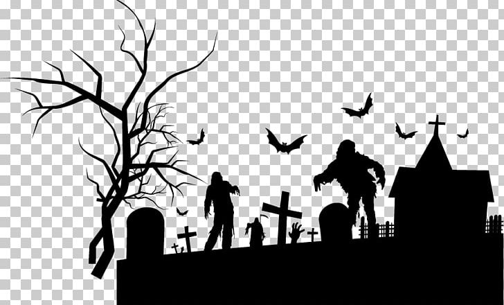 Halloween Background Elements Png Clipart Black And White Cemetery Computer Wallpaper Design Design Element Free Png