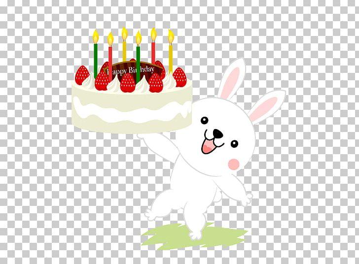 Birthday Cake Christmas Rabbit Shortcake PNG Clipart Animals Card Free Download