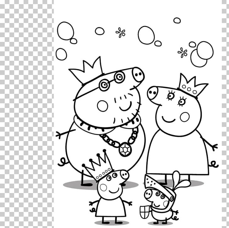 Mummy Pig Daddy Pig Grandpa Pig Peppa Pig Coloring Pages Png