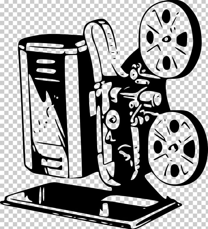 Movie Projector Film PNG, Clipart, Artwork, Black And White, Brand, Cartoon, Drawing Free PNG Download
