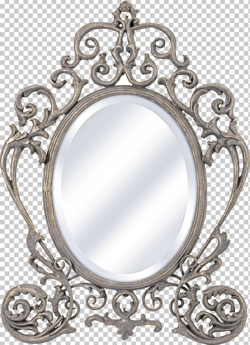 Mirror Metal Ornament Silver Makeup Mirror PNG, Clipart, Makeup Mirror, Metal, Mirror, Ornament, Silver Free PNG Download