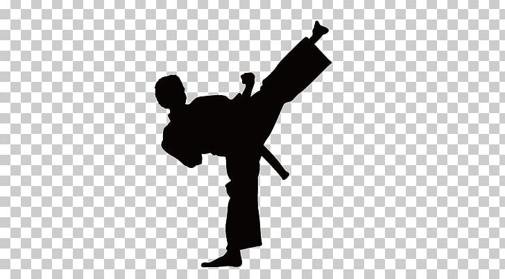 Karate Wall Decal Kick Martial Arts PNG, Clipart, Animals, Black And White, Chinese Kongfu, City Silhouette, Decal Free PNG Download